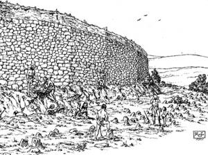 Recreación histórica del castro de Castilfrío Siglos VII al V antes de nuestra era.