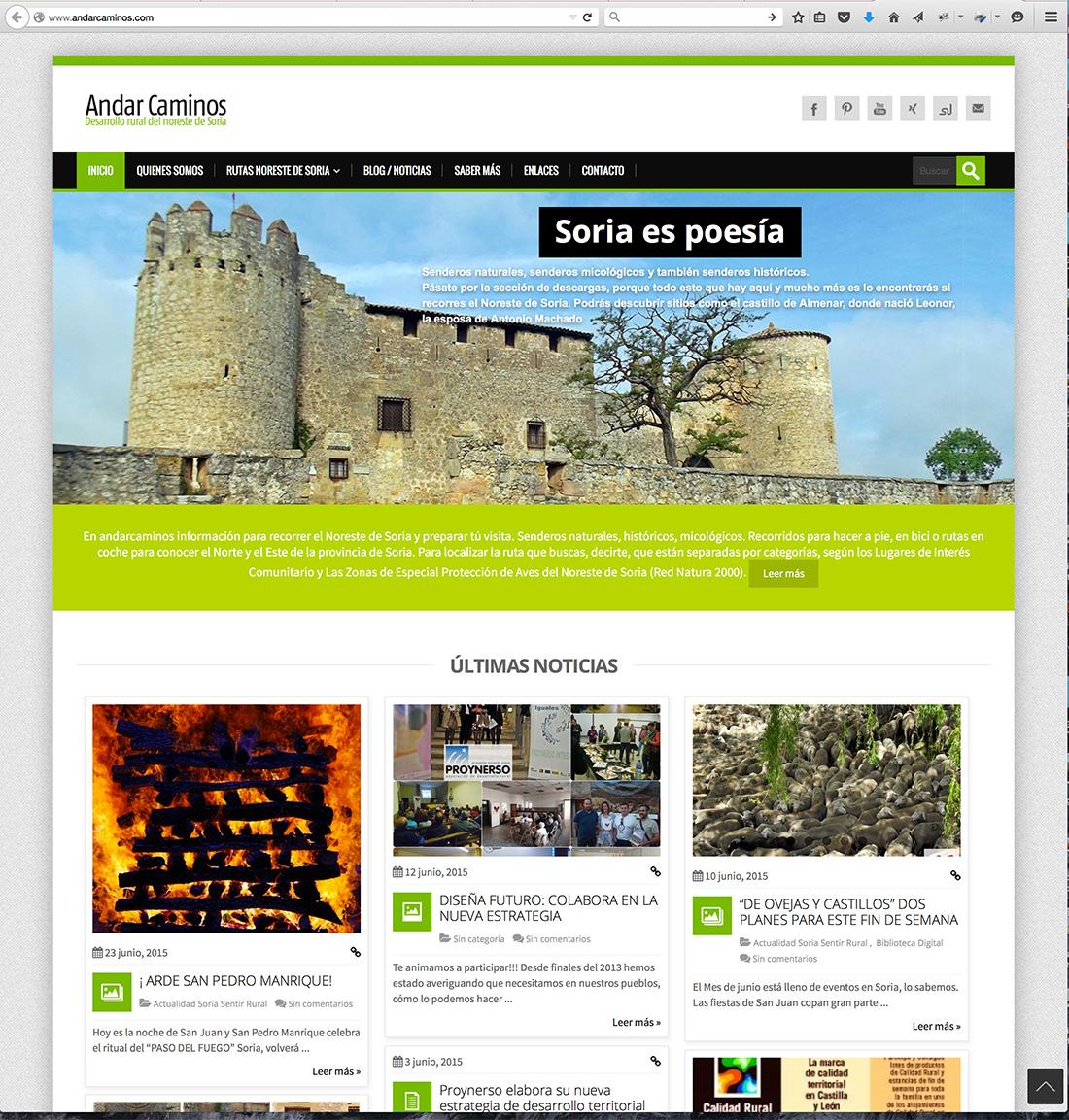 Web de www.andarcaminos.com