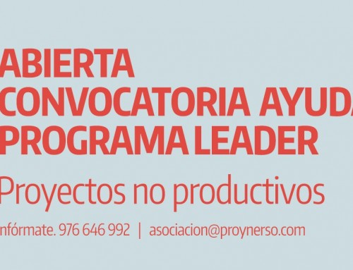 Abierta convocatoria Ayudas Programa LEADER. Proyectos no productivos.